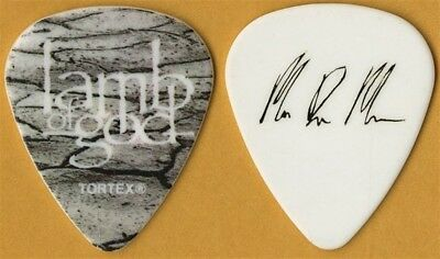 Lamb of God Mark Morton authentic 2011 Resolution Tour signature Guitar Pick