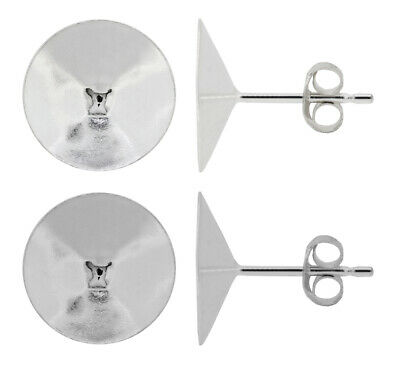 Sterling Silver Stud Posts Earrings for Rivoli 1122 Crystals * All Sizes