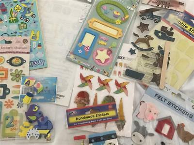 Boys Scrapbook Or Card Making Sticker & Embellishment Pack x 10 NEW!  (pack 9)