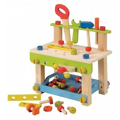 NEW EverEarth Large Work Bench with Tools - Kids Boys Wooden Workbench Toy