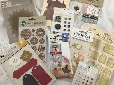 Scrapbook Or Card Making Sticker & Embellishment Pack x 10 NEW!  (pack 10)