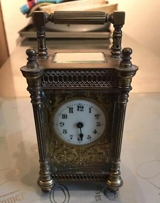 Working Antique Richard and Co  R & Co Carriage Clock For Restoration - updated
