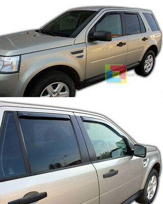 Land Rover Freelander 07-14 Set 4 Deflettori Aria Finestrini - Antiturbo Abs -1