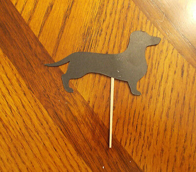 Lot of 12 Wiener dog Cupcake Toppers! Dachshund