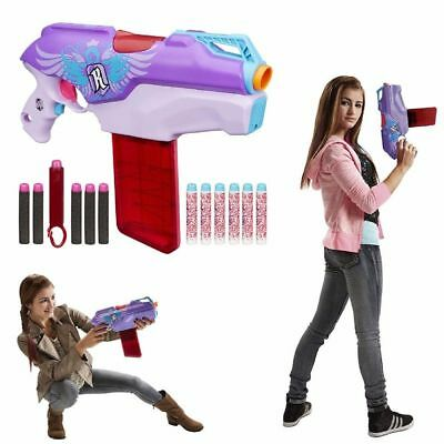 Toy Gun Game Darts Nerf Rebelle Rapid Red Blaster Kids Girls & Rifle up 75 feet