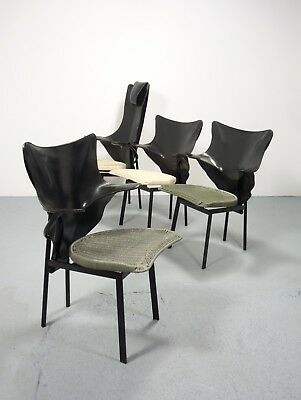 rare Set of four (4) Zanotta Re and Regina chairs, design Paolo Deganello 1991