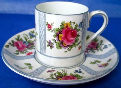 Crown Staffordshire Gorgeous Antique Cup & Saucer Sold by BIRKS ca.1906