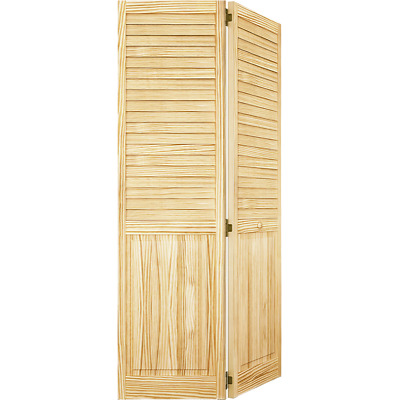 Closet Door, Bi Fold, Kimberly Bay® Plantation Louver Panel Clear