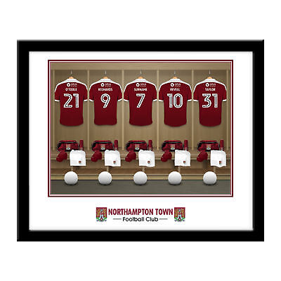 PERSONALISED Northampton Town FC Dressing Room Framed Print 16x13 Football Gift