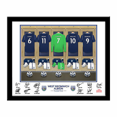 PERSONALISED WBAFC Goalkeeper Dressing Room Framed Print 16x13 Football Gift