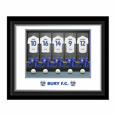 PERSONALISED Bury FC Dressing Room Photo Framed 12x10 Xmas Football Gift