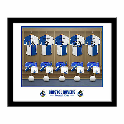 PERSONALISED Bristol Rovers FC Dressing Room Framed Print 16x13 Football Gift