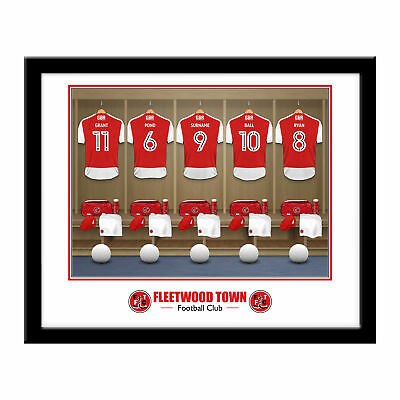 PERSONALISED Fleetwood Town FC Dressing Room Framed Print 16x13 Football Gift
