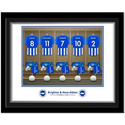 PERSONALISED Brighton FC Dressing Room Photo Framed 12x10 Xmas Football Gift