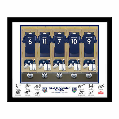 PERSONALISED WBA FC Dressing Room Framed Print 16x13 Xmas Football Gift