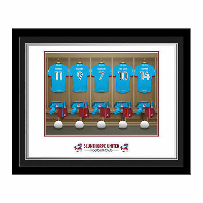 PERSONALISED Scunthorpe United FC Dressing Room Photo Framed 12x10 Football Gift