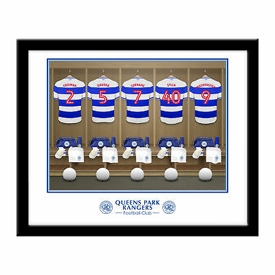 PERSONALISED QPR FC Dressing Room Framed Print 16x13 Xmas Football Gift
