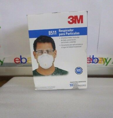 3M 8511 N95 Particulate Respirator with Cool Flow Valve Pack of 10