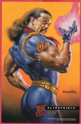 '95 FLEER ULTRAPRINTS X-MEN - BISHOP (Boris Vallejo)