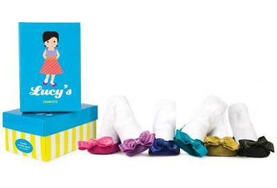 NEW Trumpette LUCY'S Baby Girl Socks 6 pairs in GIFT BOX. 12-24 mo