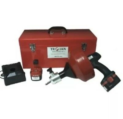 Trojan Drain Cleaner Hand Drill Snake Machine Unclog Drains and Pipes