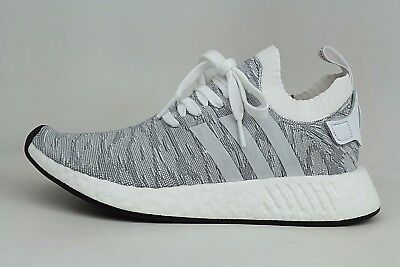 e668a616e63b34 Adidas Originals NMD R2 PK Primeknit Running White Core Black Mens Shoes  BY9410