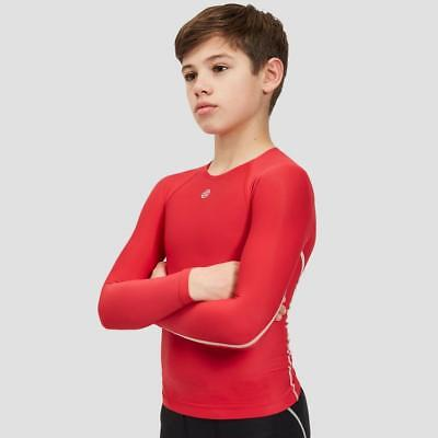 New Skins Dnamic Team L Slv Top Sports Compression Clothing Red