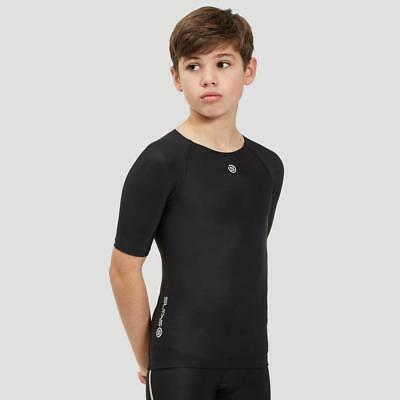 New Skins Dnamic Team Sh Slv Top Sports Compression Clothing Black
