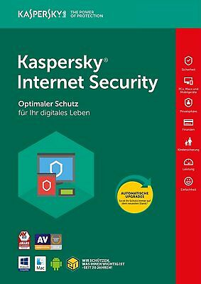 Kaspersky Internet Security 2018 3 PC / Geräte / 2 Jahre Vollversion Antivirus