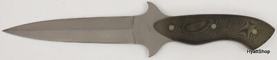 Ray Beers Satin Stainless Steel Canvas Micarta Handle Fixed Blade Knife 003