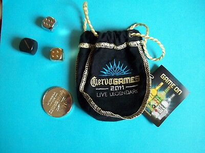 cuervo bag with dice and chip Game Mini bottle bag...limited 2011