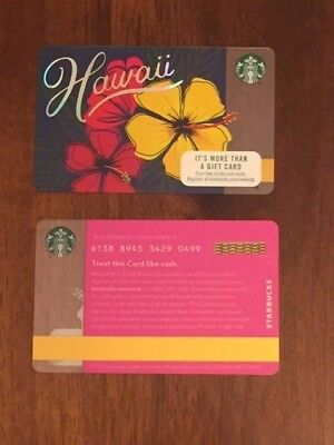 "NEW MINT Starbucks Card - 2017  Hawaii ""Hawaiian Hibiscus"""