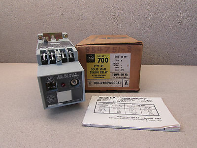 Allen Bradley 700-Rt00W000A1 Solid State Timing Relay