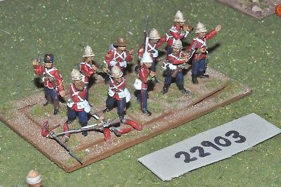 25mm 19th century / british - zulu war (plastic) 10 figures - inf (22903)