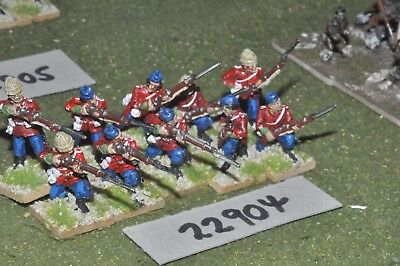 25mm 19th century / british - zulu war (plastic) 10 figures - inf (22904)