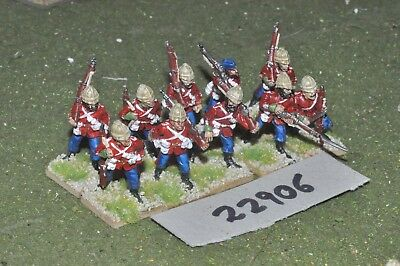 25mm 19th century / british - zulu war (plastic) 10 figures - inf (22906)