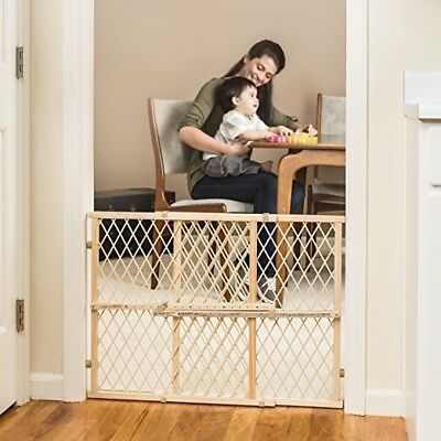 Wood Gate Evenflo Position And Lock Pressure Mount Tall Safety Baby Child/Pet