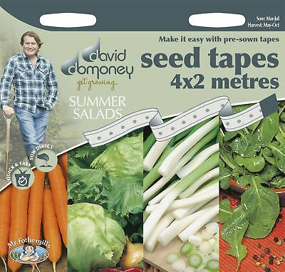 Mr Fothergills - Vegetable - David Domoney Summer Salads Seed Tapes