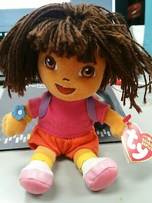 TY Beanie Baby - DORA the Explorer (Yarn Hair Version) (7.5 inch)