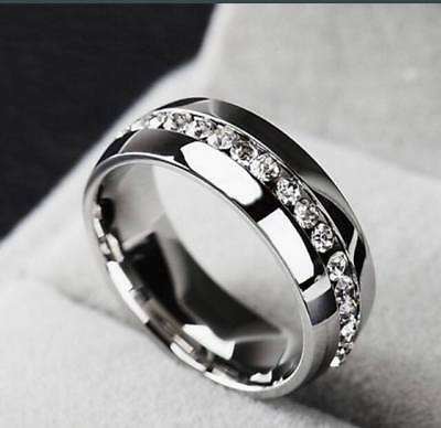 18K gold plated diamond ring high quality stainless steel for men and women fash