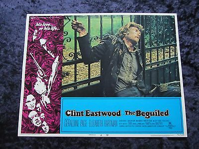 The Beguiled lobby card # 8 Clint Eastwood, Geraldine Page (1971)