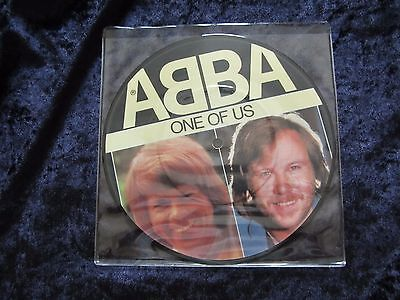 ABBA - ONE OF US - Original UK 45 Vinyl Record  Picture Disc (1981)