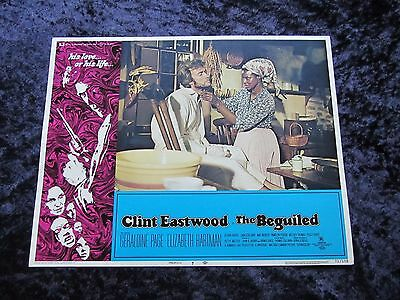 THE BEGUILED lobby card #7 CLINT EASTWOOD, GERALDINE PAGE (1971)