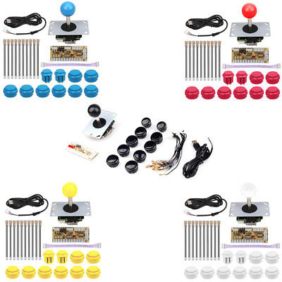 Arcade DIY Kits Parts USB Encoder To PC China-made Joystick +10 Buttons 5 Colors