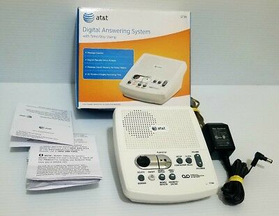 at t 1739 answering machine with ac power adapter each one tested rh picclick com owners manual at&t 1739 answering machine at&t model 1739 answering machine instructions