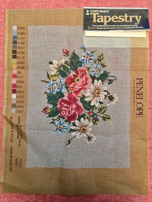 Coats Semco Large Unworked Tapestry Cross Stitch Embroidery Canvas