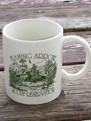Vtg Flaming Arrow Boy Scout Reservation-Bsa-Boy Scouts Of America Coffee Mug
