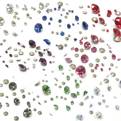 PICK COLOUR Genuine Swarovski 1088 XIRIUS Crystal Chaton Pointed Back Mixed Size