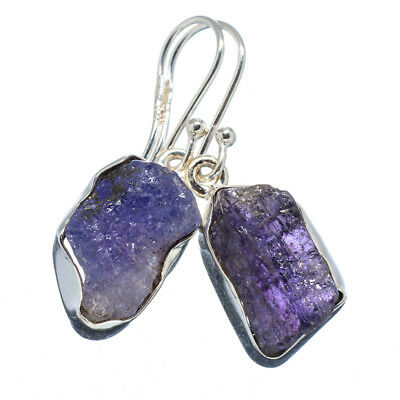 "Tanzanite 925 Sterling Silver Earrings 1 3/8"" Ana Co Jewelry E347045F"