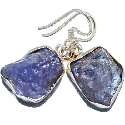 "Tanzanite 925 Sterling Silver Earrings 1 1/4"" Ana Co Jewelry E347019F"